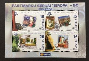 Latvia 2006, #637 S/S, Europa 50th Anniversary, MNH.