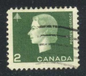 Canada #402 Queen Elizabeth II and Tree, used (0.25)