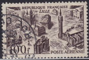 France C23 USED 1949 View of Lille 100Fr