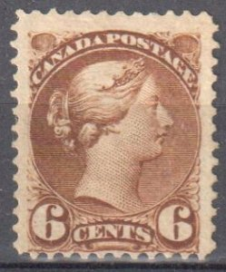 Canada #43 Mint F-VF OG H Small Queen $250.00