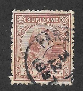SURINAM Scott #30 Used 30c Queen Wilhelmina stamp 2015 CV $5.00
