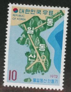 Korea Scott 812 MNH** 1972 Forest Map stamp