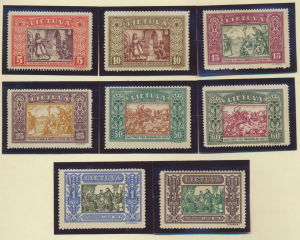 Lithuania Stamps Scott #264 To 271, Mint Never Hinged - Free U.S. Shipping, F...