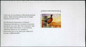 MINNESOTA #31P 2013 STATE PHEASANT STAMP  by Timothy Turenne