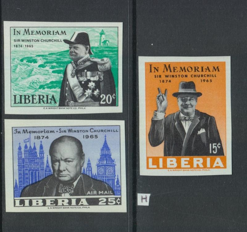 XG-Z856 LIBERIA - Churchill, 1965 In Memory, Imperf. MNH Set