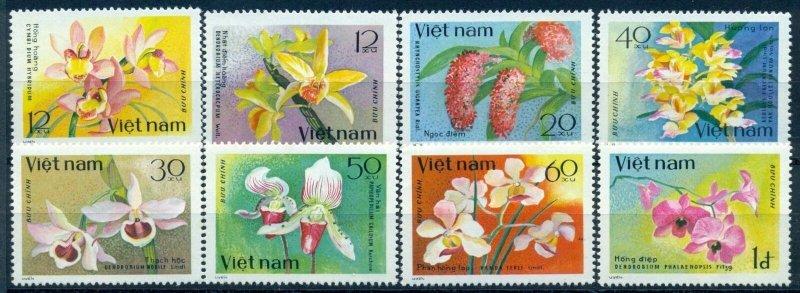 Vietnam 1979 MNH Stamps Scott 1017-1024 Flowers Orchids