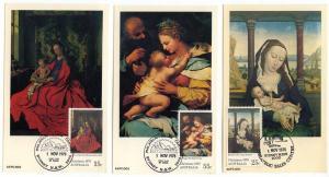 Australia - 1978 Christmas Maximum Cards - 3 Different
