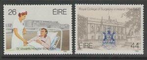 IRELAND SG586/7 1984 ST.VINCENT HOSPITAL MNH