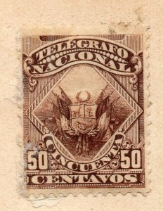 Peru 1883-84 Early Issue Fine Mint Hinged 50c. NW-11815