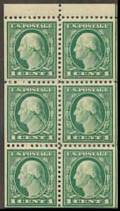498e Mint Booklet Pane F H