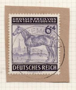 1944-45 GERMANY used in LUXEMBOURG Fine Used 6p. Postmark Piece 241677