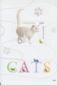 2019 Grenada Cats SS (Scott NA) MNH