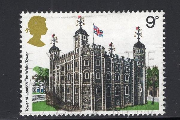 Great Britain  #831  used  1978  architecture  9p