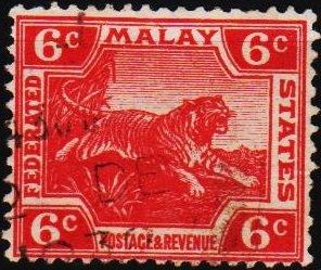 Malaya(Federated Malay States). 1900 6c S.G.64 Fine Used