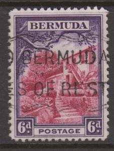 Bermuda 1936 6d Violet & Rose Lake Sc#112 Used