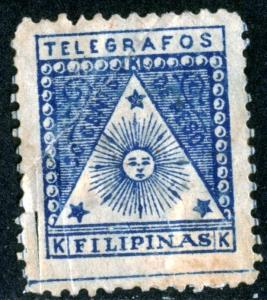 PHILIPPINES - Revolutionary Government Telegraph Stamp 1898 FAULT - PHILIP126