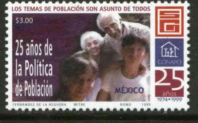 MEXICO 2143, National Population Commission 25th Anniversary. MINT, NH. VF.