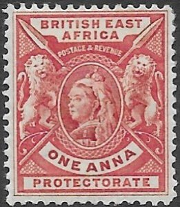 British East Africa 73   1896   one anna  fine mint =hinged