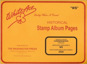 WHITE ACE 2020 US Commemorative Singles Simplified Stamp Album Supplement WS