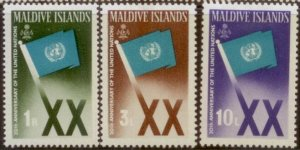 Maldive Islands  1965 SC# 164-6  M-hinged L156