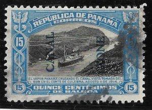 Canal Zone Scott #50 Used 15c Blue O/P 2016 CV $17.50