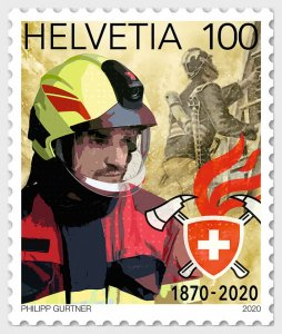 Switzerland 2020 150 Years Swiss Fire Brigade Association mint**
