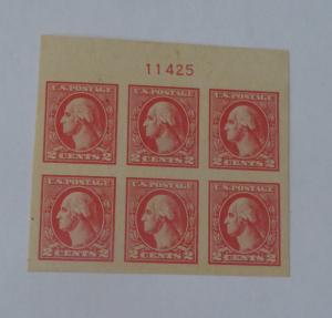 #534 2 cent washington plate block