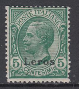 ITALY - Egeo - Leros  Very Fine MNH** 5 cent