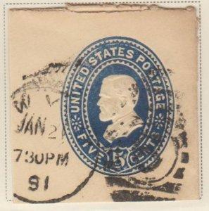 U.S. Scott #U332 Grant - Embossed Stamped Envelope - Used Single - IND