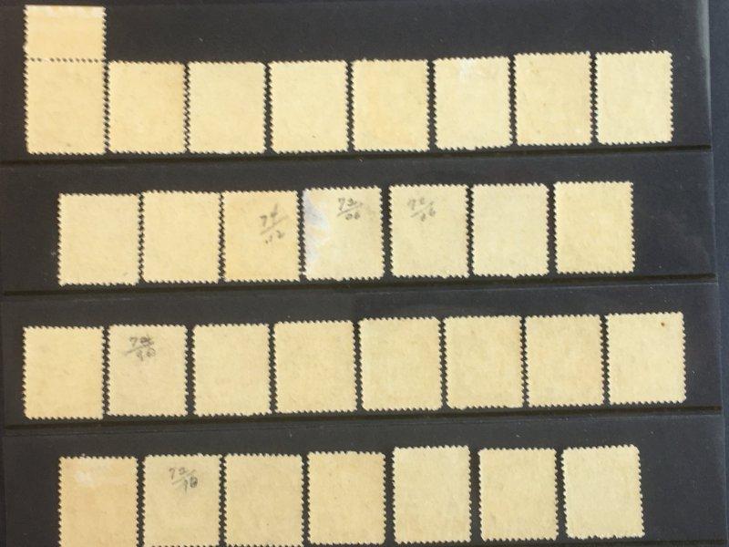 Accumulation of Thirty 1898 Canada Sc 74 black ½c QV Numeral, Singles, SCV $...
