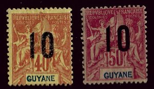French Guiana SC#92-93 Mint Fine hr...Worth a Close look!!