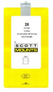 Scott/Prinz Souvenir Sheets & Small Panes Stamp Mount Size: 290x28 #1044 Clear