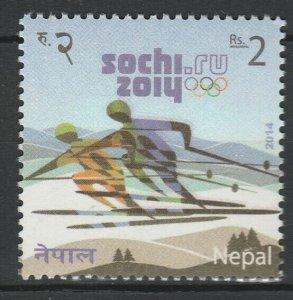 Nepal 2014 Winter Olympic Games - Sochi MNH stamp
