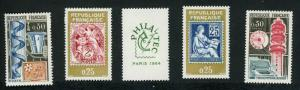 France 1084-1088 Unused (MH)