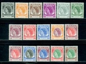 Malaya-Penang #29-44  Mint  Scott $73.60   #36 Pulled Perf