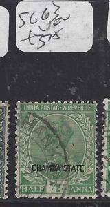 INDIA CHAMBA  (PP2410B)  KGV  1/2A       SG 63      VFU