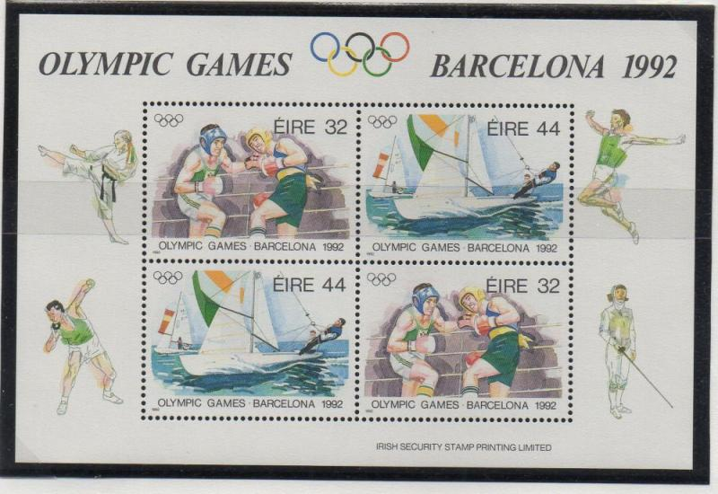 Ireland Sc 855a 1992 Barcelona Olympics stamp sheet mint NH