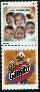 MEXICO 2532, Children, the future of Mexico w/comm label. MINT, NH. F-VF.