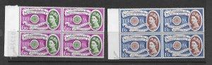 Great Britain 377-8 MNH cpl set in blk of 4, f-vf. see desc. 2020 CV $32.00