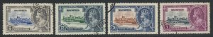 Mauritius, Sc 204-207 (SG 245-248), used