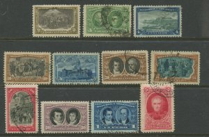 STAMP STATION PERTH Argentina #162-172 General Issue 1910 Used / MH