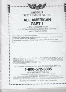 Minkus All American part 1 2013 Supplement Brand New
