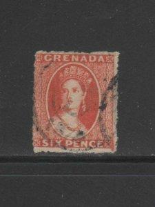 GRENADA #5  1871  6p  QUEEN VICTORIA     F-VF  USED
