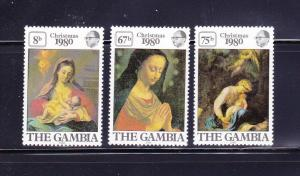 Gambia 417-419 Set MNH Christmas (B)