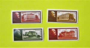 Russia - 5656-59, MNH Set. Lenin Museum Branches. SCV - $1.00