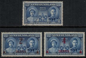 Newfoundland #249-51*/u  CV $3.60