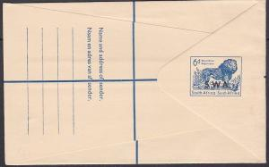 SOUTH WEST AFRICA South Africa 6d Lion registered envelope optd SWA..........730