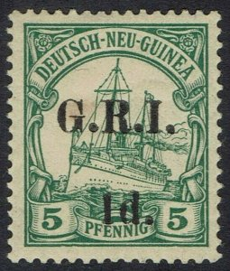 GRI NEW GUINEA 1914 YACHT 1D ON 5PF 6MM SPACING