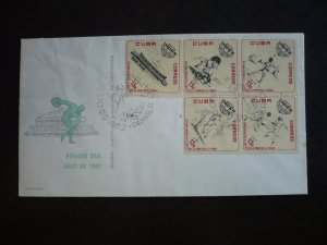 Stamps - Cuba - Scott# 738-742 - First Day Cover