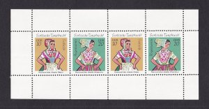 Germany  DDR  #1297Ad   MNH  1971 Sorbian dance costumes sheet
